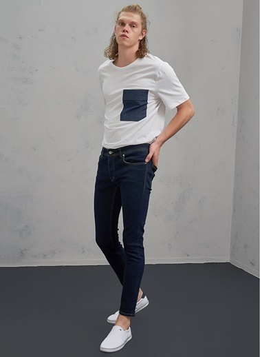 Pi π Slim Fit Jean Pantolon Mavi